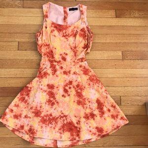 Bright Tye-dye style dress